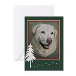 Yellow Lab Girl Painting Holiday Cards (10)