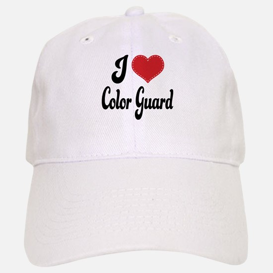 I Love Color Guard Baseball Baseball Cap