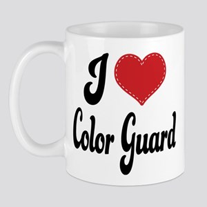 I Love Color Guard Mug