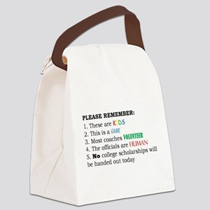 Game Rules - Say what you mean! Canvas Lunch Bag