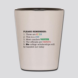 Game Rules - Say what you mean! Shot Glass