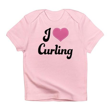 I Love Curling Infant T-Shirt