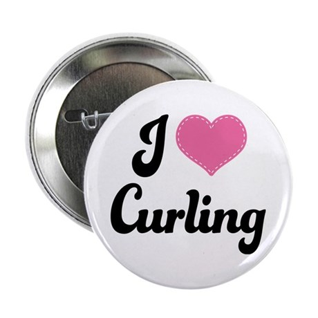"I Love Curling 2.25"" Button"
