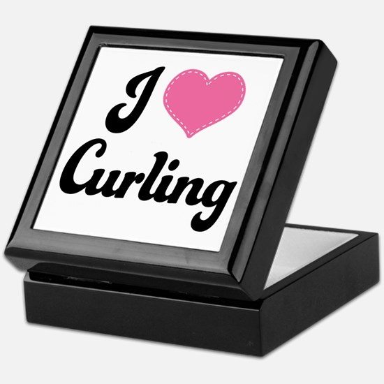 I Love Curling Keepsake Box