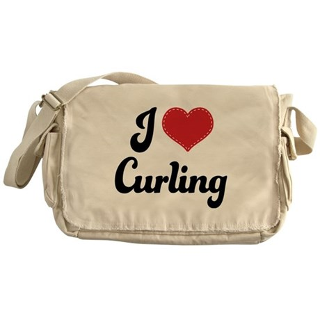 I Love Curling Messenger Bag