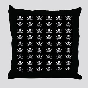 Calico Jack Flag Throw Pillow