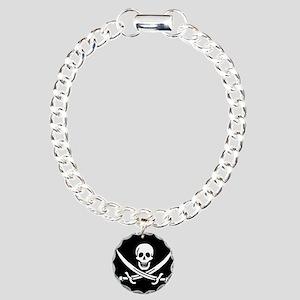 Calico Jack Flag Charm Bracelet, One Charm