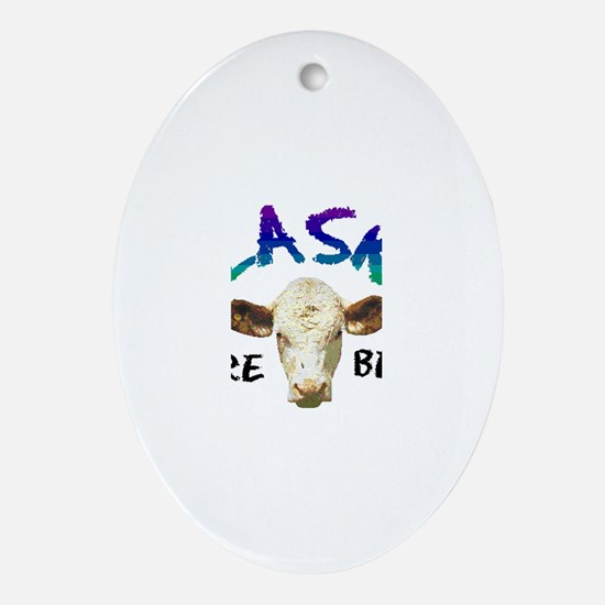 Cute More cowbell Oval Ornament