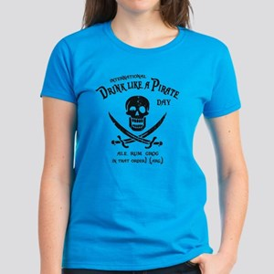 Drink Like a Pirate Women's Dark T-Shirt
