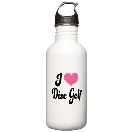 I Love Disc Golf Stainless Water Bottle 1.0L