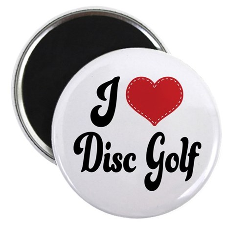 I Love Disc Golf Magnet