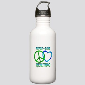 Peace Love Quilting Stainless Water Bottle 1.0L