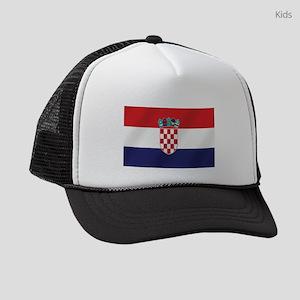 Croatian National Flag Kids Trucker hat