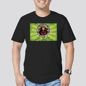 Monkey Business Music rect Men's Fitted T-Shirt (d