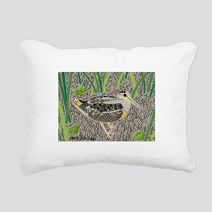 Woodcock Rectangular Canvas Pillow