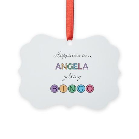 Angela BINGO Picture Ornament