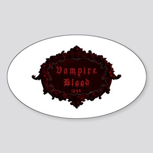 Vampire Blood.png Sticker (Oval)