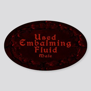 Used Embalming Fluid Male.png Sticker (Oval)