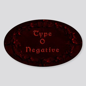 Type O New2.png Sticker (Oval)