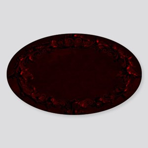 Blank DraculaBlood Red2.png Sticker (Oval)