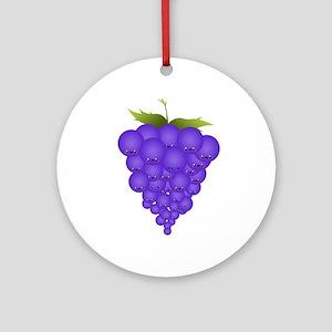 Buncha Grapes Ornament (Round)