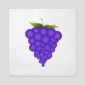 Buncha Grapes Queen Duvet
