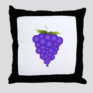 Buncha Grapes Throw Pillow