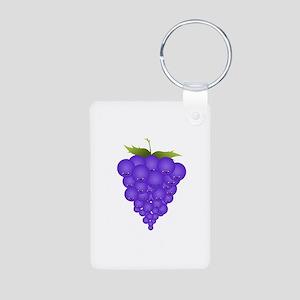 Buncha Grapes Aluminum Photo Keychain