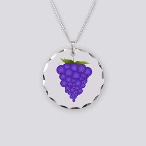 Buncha Grapes Necklace Circle Charm