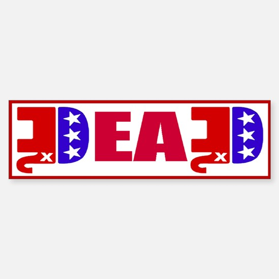 GOP Dead! Sticker (Bumper)