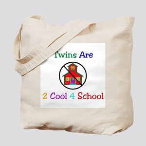 Twins are 2 Cool 4 School Tote Bag