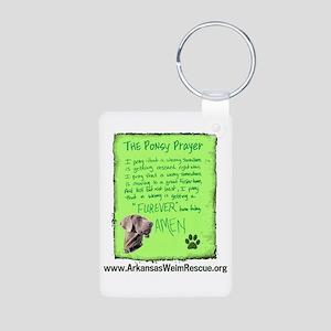 Ponsy Prayer Aluminum Photo Keychain