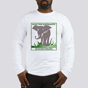 Save The Elephants Men's Long Sleeve T-Shirt