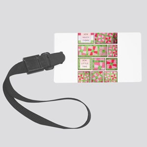 Maxines Quilt Pink 2 Large Luggage Tag