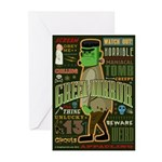 Green Horror Greeting Cards (Pk of 10)