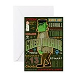 Green Horror Greeting Card