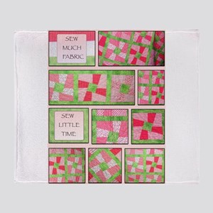 Maxines Quilt Pink 2 Throw Blanket