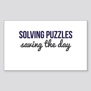 Solving Puzzles, Saving the Day Sticker (Rectangle