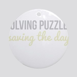 Solving Puzzles, Saving the Day Ornament (Round)