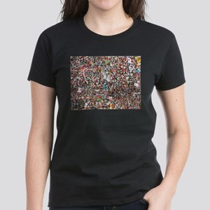 Gum on the Wall Women's Dark T-Shirt