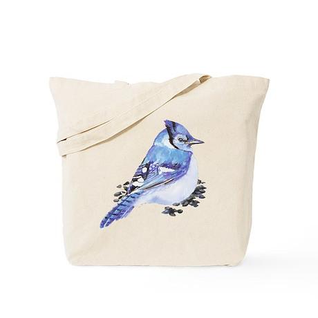 Original Watercolor Blue Jay Tote Bag