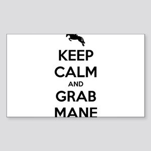 Keep Calm and Grab Mane Sticker (Rectangle)
