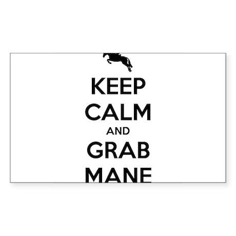 Keep Calm and Grab Mane Sticker (Rectangle)