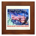9-11 Tribute & Warning Framed Tile