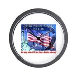 9-11 Tribute & Warning Wall Clock