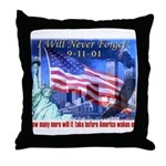9-11 Tribute & Warning Throw Pillow