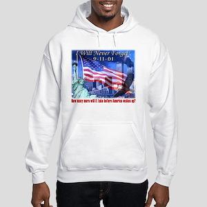 9-11 Tribute & Warning Hooded Sweatshirt