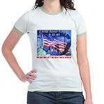 9-11 Tribute & Warning Jr. Ringer T-Shirt