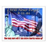 9-11 Tribute & Warning Small Poster