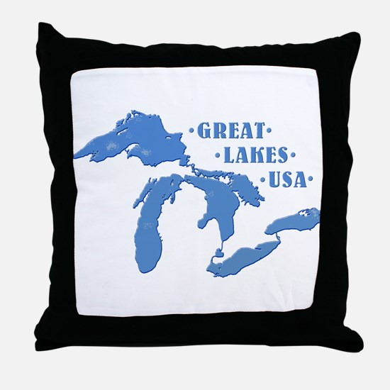 GREAT LAKES USA Throw Pillow